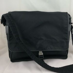 Authentic Vintage Prada Messenger Bag in Black